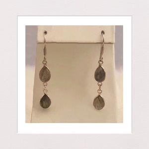 Jewelry - Teardrop Labradorite and Sterling Silver Earrings